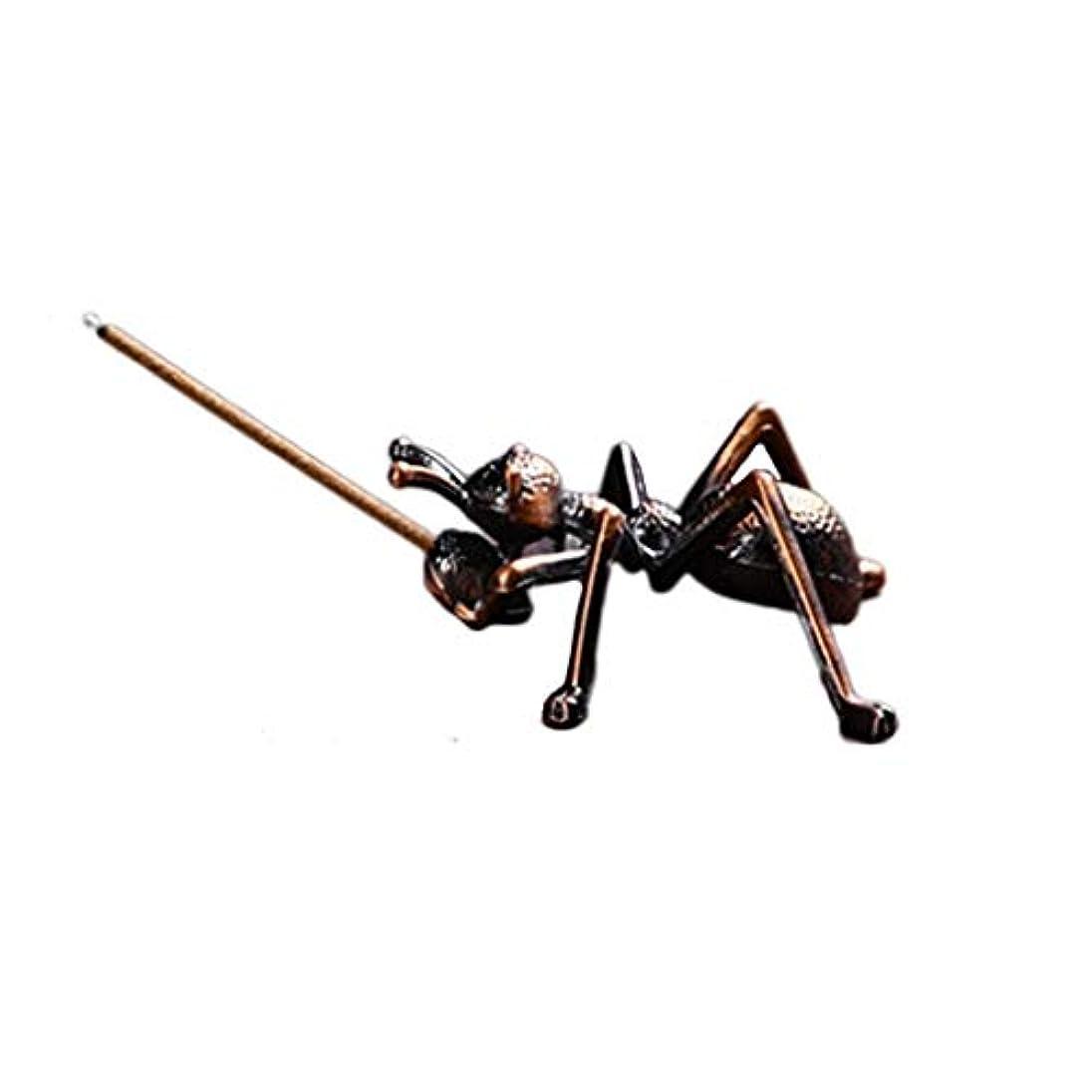 ゴミジェムコモランマ合金蟻香バーナーミニ線香ホルダー小さな香バーナーホルダーホームデコレーション香オイルバーナー (Color : Brown, サイズ : 1.96*0.86inchs)