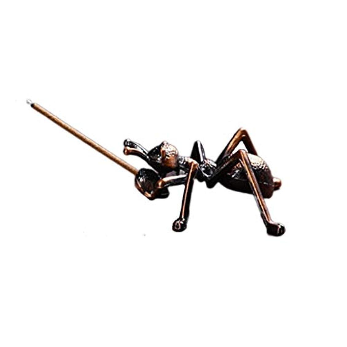 花に水をやる差別的バラエティ合金蟻香バーナーミニ線香ホルダー小さな香バーナーホルダーホームデコレーション香オイルバーナー (Color : Brown, サイズ : 1.96*0.86inchs)