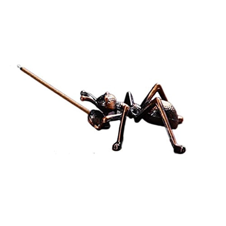 八百屋素晴らしい入力ミニ香ホルダー合金蟻香バーナー小さな香ホルダーホーム香り装飾香スティックバーナーホルダー (Color : Brown, サイズ : 1.96*0.86inchs)
