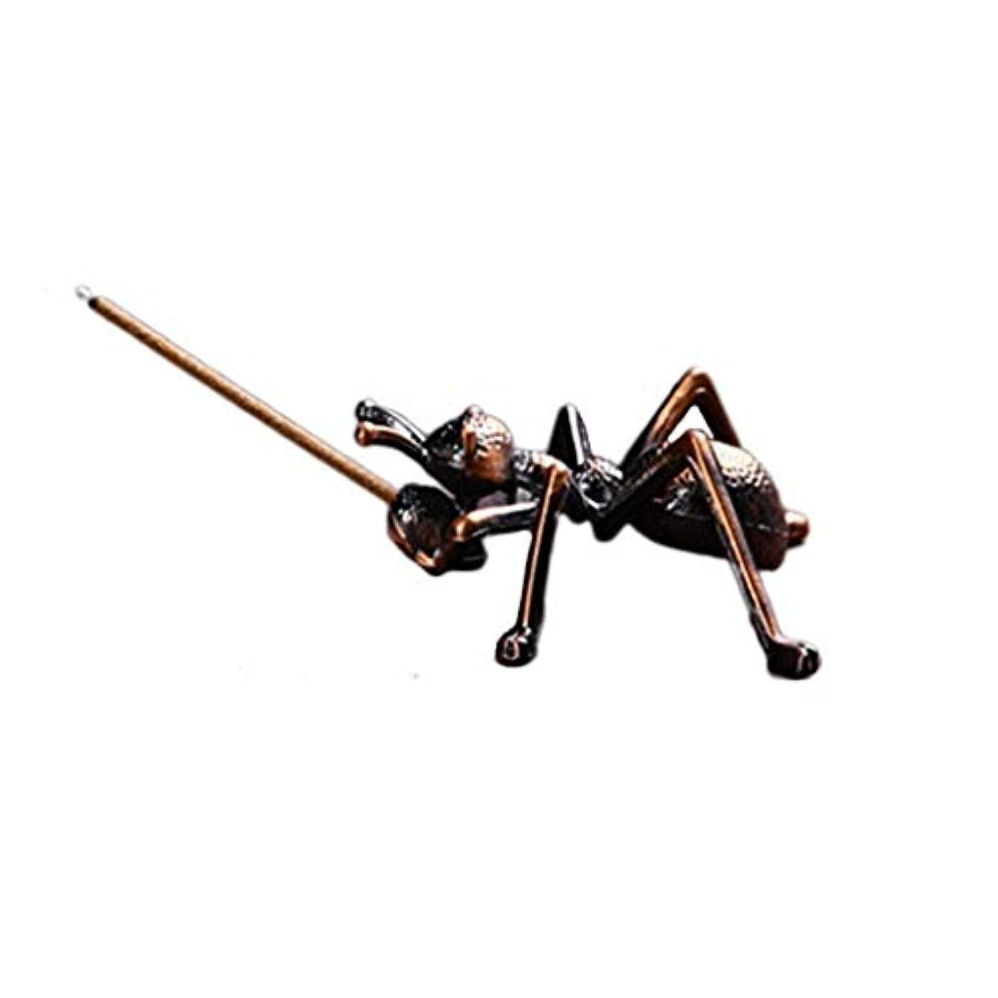 鑑定スモッグ慎重に合金蟻香バーナーミニ線香ホルダー小さな香バーナーホルダーホームデコレーション香オイルバーナー (Color : Brown, サイズ : 1.96*0.86inchs)