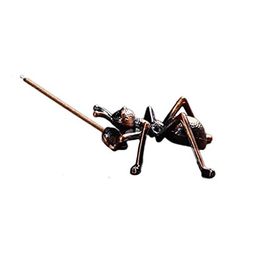 理由ストレス補充ミニ香ホルダー合金蟻香バーナー小さな香ホルダーホーム香り装飾香スティックバーナーホルダー (Color : Brown, サイズ : 1.96*0.86inchs)