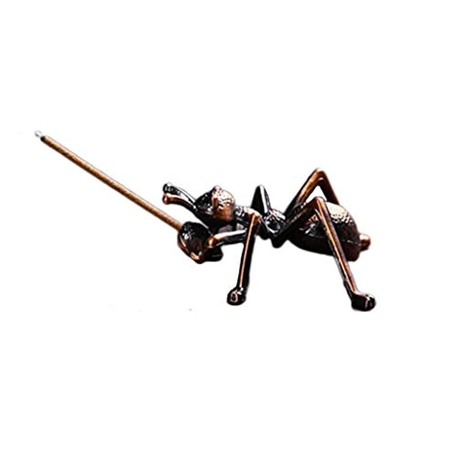 再生的有望水分ミニ香ホルダー合金蟻香バーナー小さな香ホルダーホーム香り装飾香スティックバーナーホルダー (Color : Brown, サイズ : 1.96*0.86inchs)