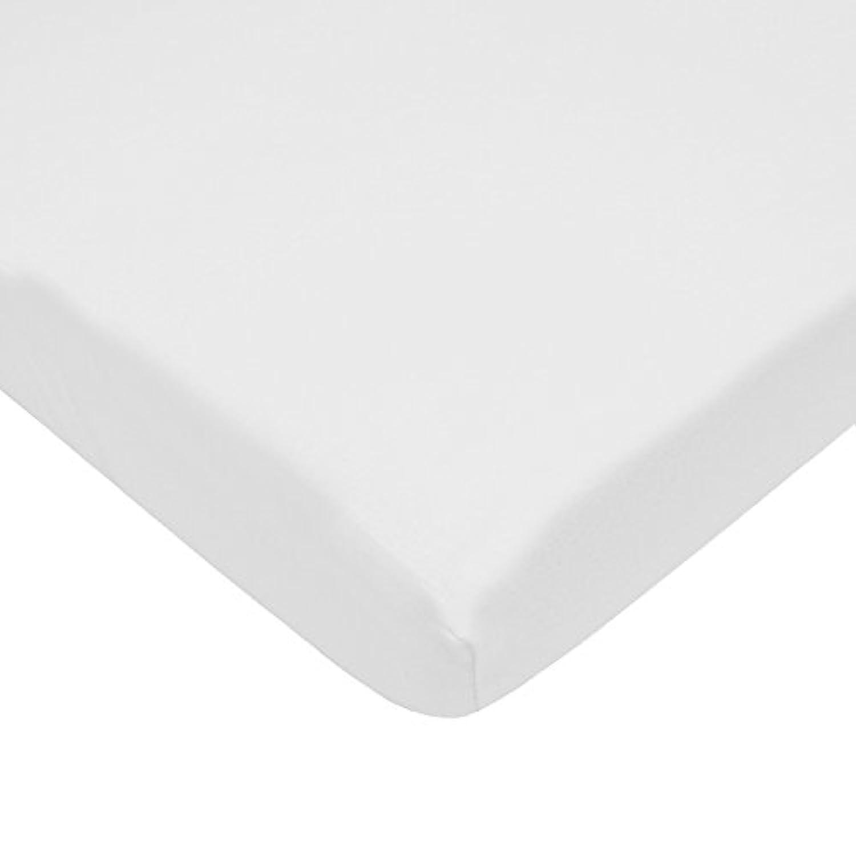 TL Care 100% Cotton Jersey Knit Mini Crib Sheet, White, 24 x 38 by TL Care