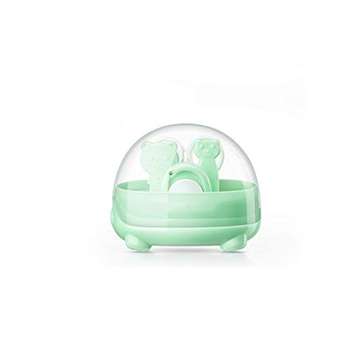 世界的に複製するほとんどない4 in 1ネイルクリッパーセット赤ちゃんの爪切りセット収納ケース付き、グリーン