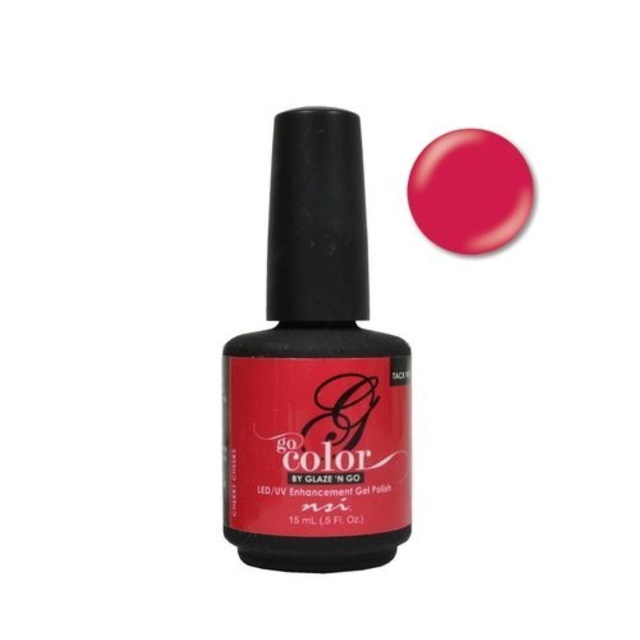 不和原子炉正午NSI Go Color Gel Polish - Cherry Cheeks - 0.5oz / 15ml