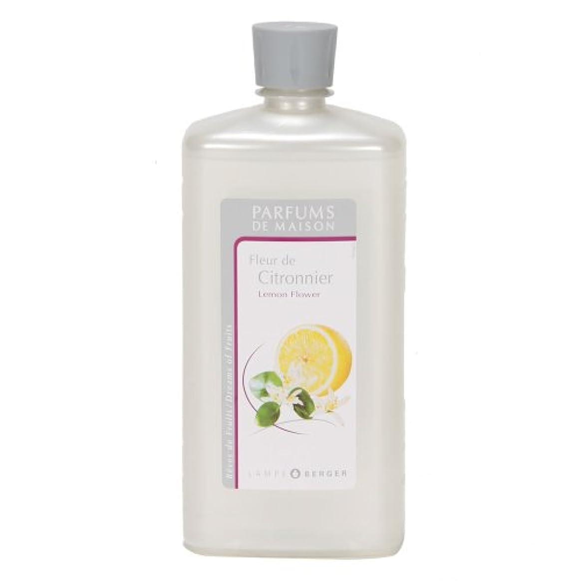 万歳雄弁家アッティカスLAMPE BERGER ランプベルジェ オイル フランス版 レモンフラワー 1000ml アロマオイル 並行輸入品