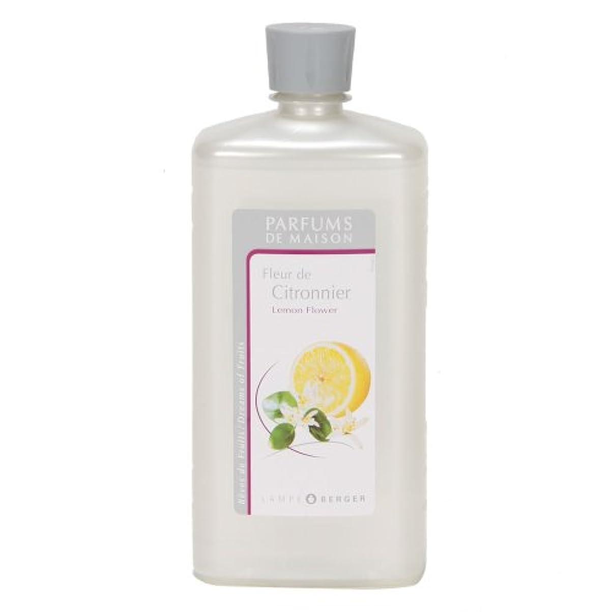 祈るグリース豊かなLAMPE BERGER ランプベルジェ オイル フランス版 レモンフラワー 1000ml アロマオイル 並行輸入品