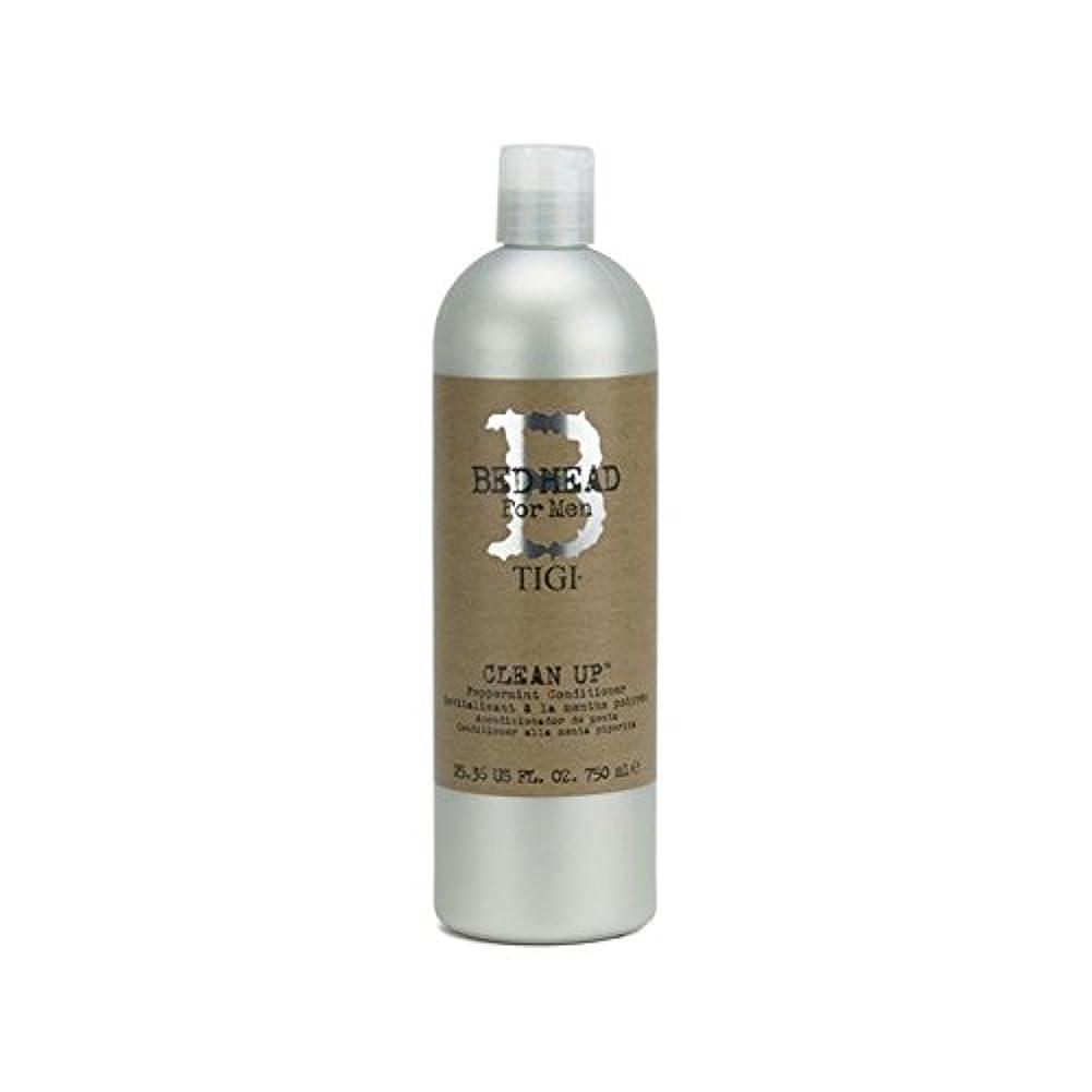 フェザー発明する読み書きのできないTigi Bed Head For Men Clean Up Peppermint Conditioner (750ml) - ペパーミントコンディショナーをクリーンアップする男性のためのティジーベッドヘッド(750ミリリットル...