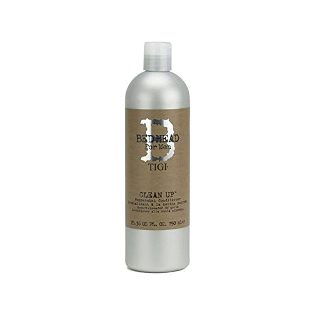 驚きダブルライターTigi Bed Head For Men Clean Up Peppermint Conditioner (750ml) (Pack of 6) - ペパーミントコンディショナーをクリーンアップする男性のためのティジーベッドヘッド...
