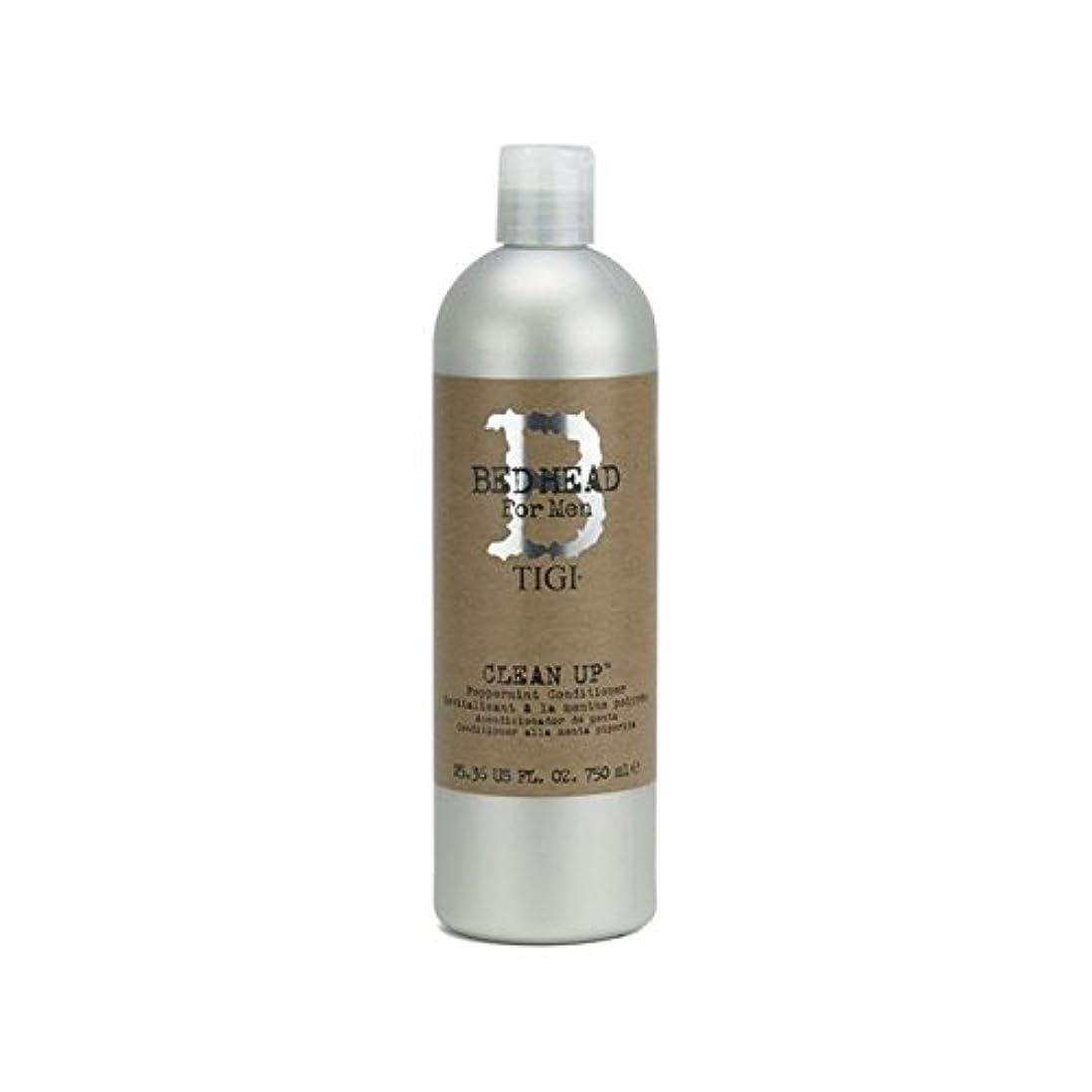Tigi Bed Head For Men Clean Up Peppermint Conditioner (750ml) - ペパーミントコンディショナーをクリーンアップする男性のためのティジーベッドヘッド(750ミリリットル...