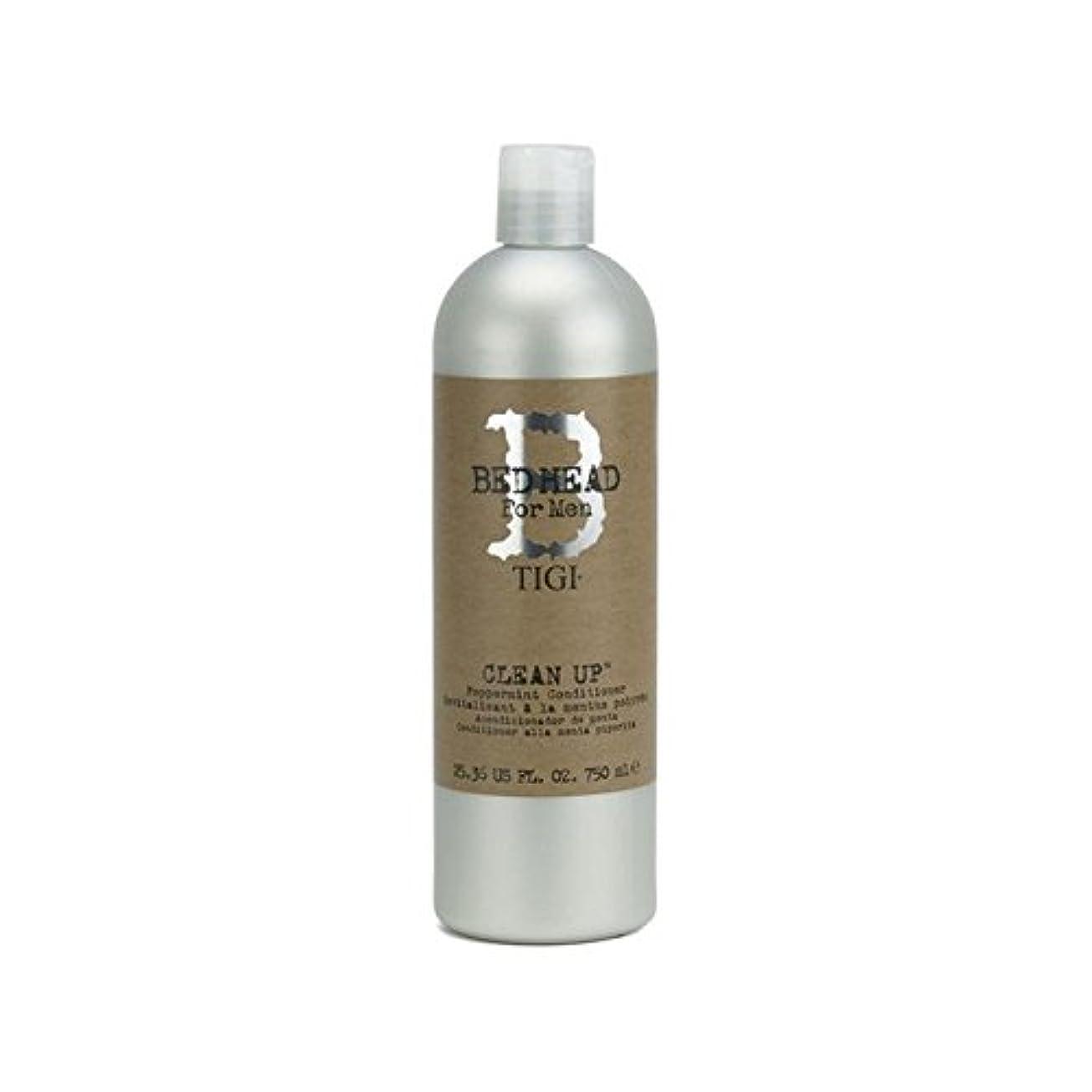 シーンアクロバット野心的Tigi Bed Head For Men Clean Up Peppermint Conditioner (750ml) (Pack of 6) - ペパーミントコンディショナーをクリーンアップする男性のためのティジーベッドヘッド...
