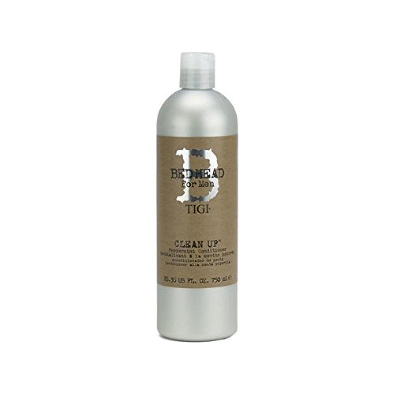 寸前安らぎ鍔Tigi Bed Head For Men Clean Up Peppermint Conditioner (750ml) - ペパーミントコンディショナーをクリーンアップする男性のためのティジーベッドヘッド(750ミリリットル...
