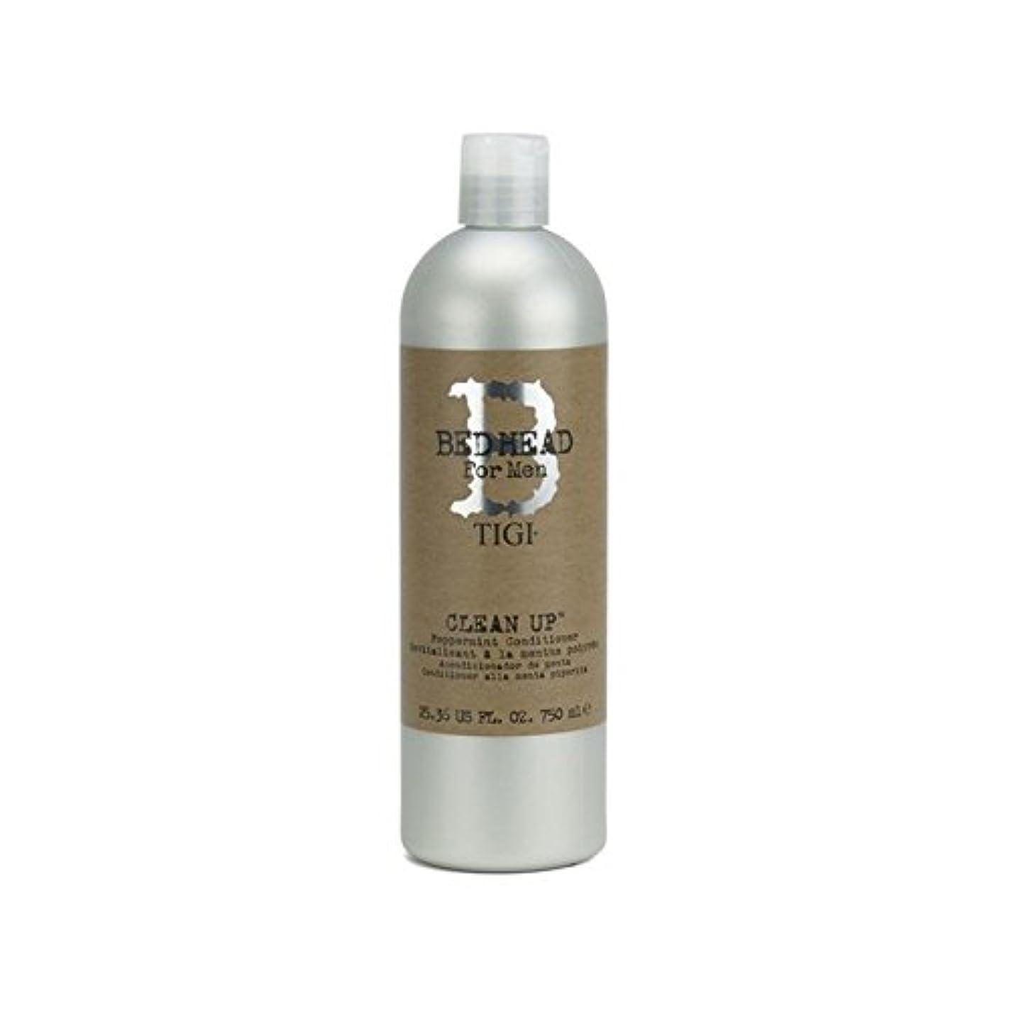 繊毛キャロラインいつもペパーミントコンディショナーをクリーンアップする男性のためのティジーベッドヘッド(750ミリリットル) x4 - Tigi Bed Head For Men Clean Up Peppermint Conditioner...