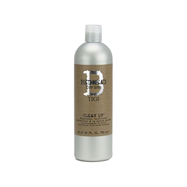 の中でに負けるラインTigi Bed Head For Men Clean Up Peppermint Conditioner (750ml) (Pack of 6) - ペパーミントコンディショナーをクリーンアップする男性のためのティジーベッドヘッド...
