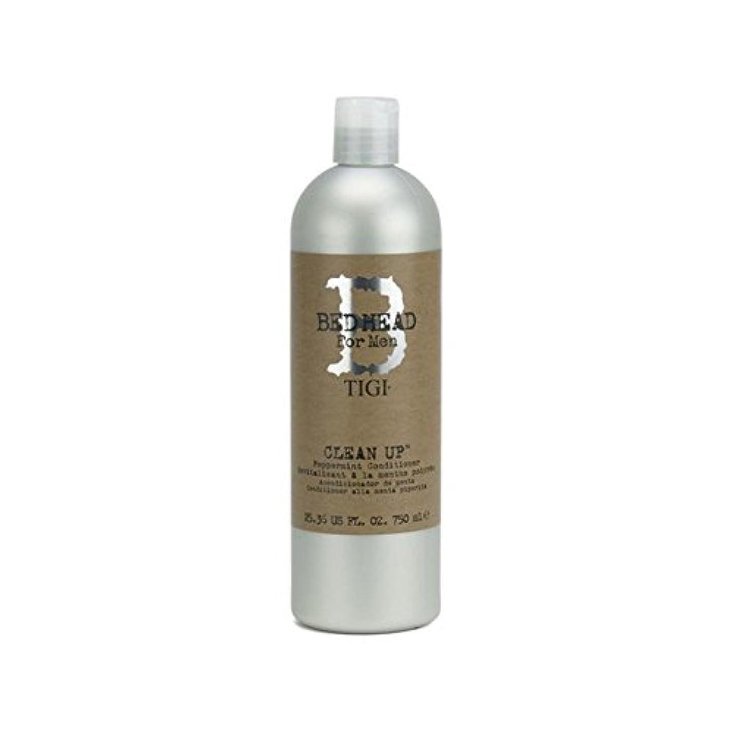 等々塊慈悲Tigi Bed Head For Men Clean Up Peppermint Conditioner (750ml) (Pack of 6) - ペパーミントコンディショナーをクリーンアップする男性のためのティジーベッドヘッド...