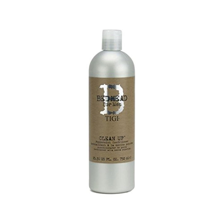 予防接種意外オンTigi Bed Head For Men Clean Up Peppermint Conditioner (750ml) (Pack of 6) - ペパーミントコンディショナーをクリーンアップする男性のためのティジーベッドヘッド...