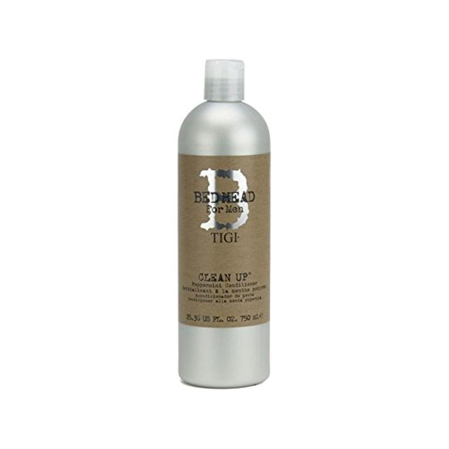 ガイドグレーマラドロイトペパーミントコンディショナーをクリーンアップする男性のためのティジーベッドヘッド(750ミリリットル) x2 - Tigi Bed Head For Men Clean Up Peppermint Conditioner...