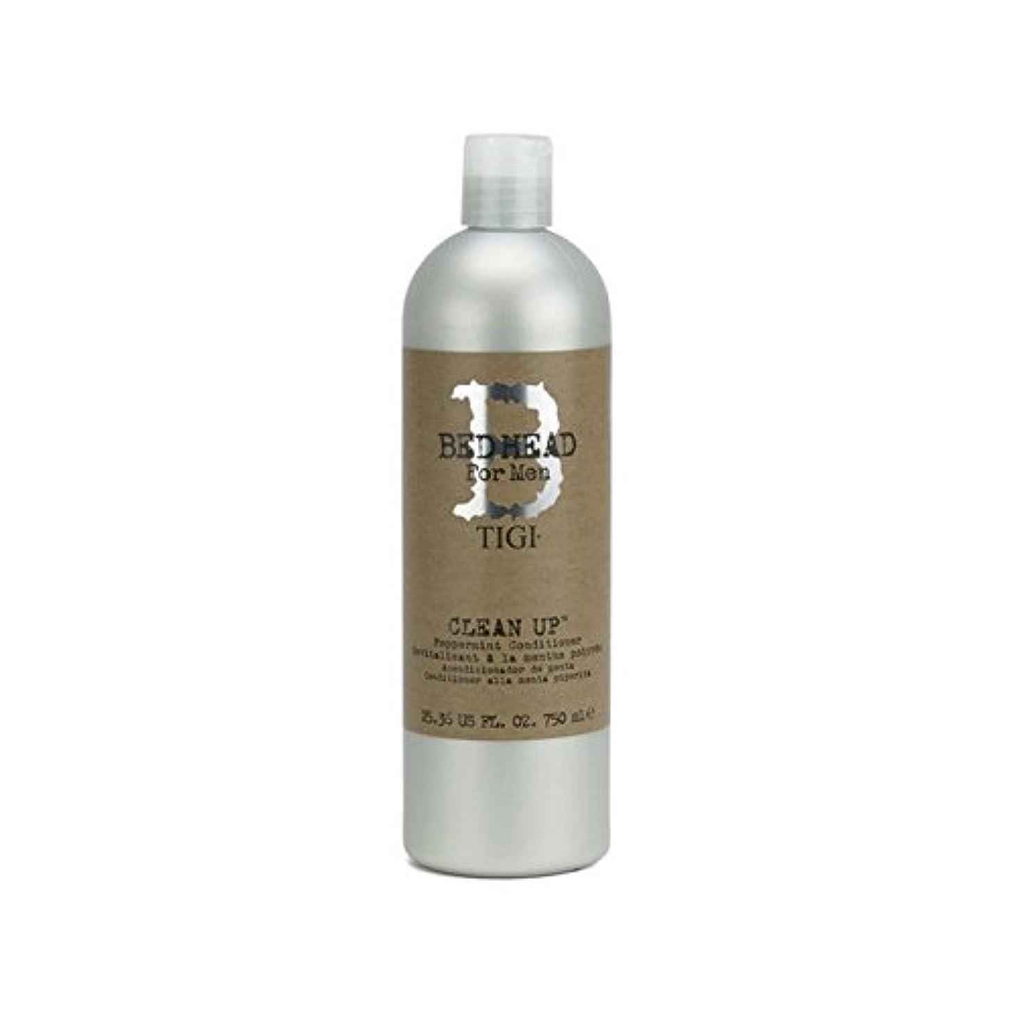 あご典型的な賛辞Tigi Bed Head For Men Clean Up Peppermint Conditioner (750ml) (Pack of 6) - ペパーミントコンディショナーをクリーンアップする男性のためのティジーベッドヘッド(750ミリリットル) x6 [並行輸入品]