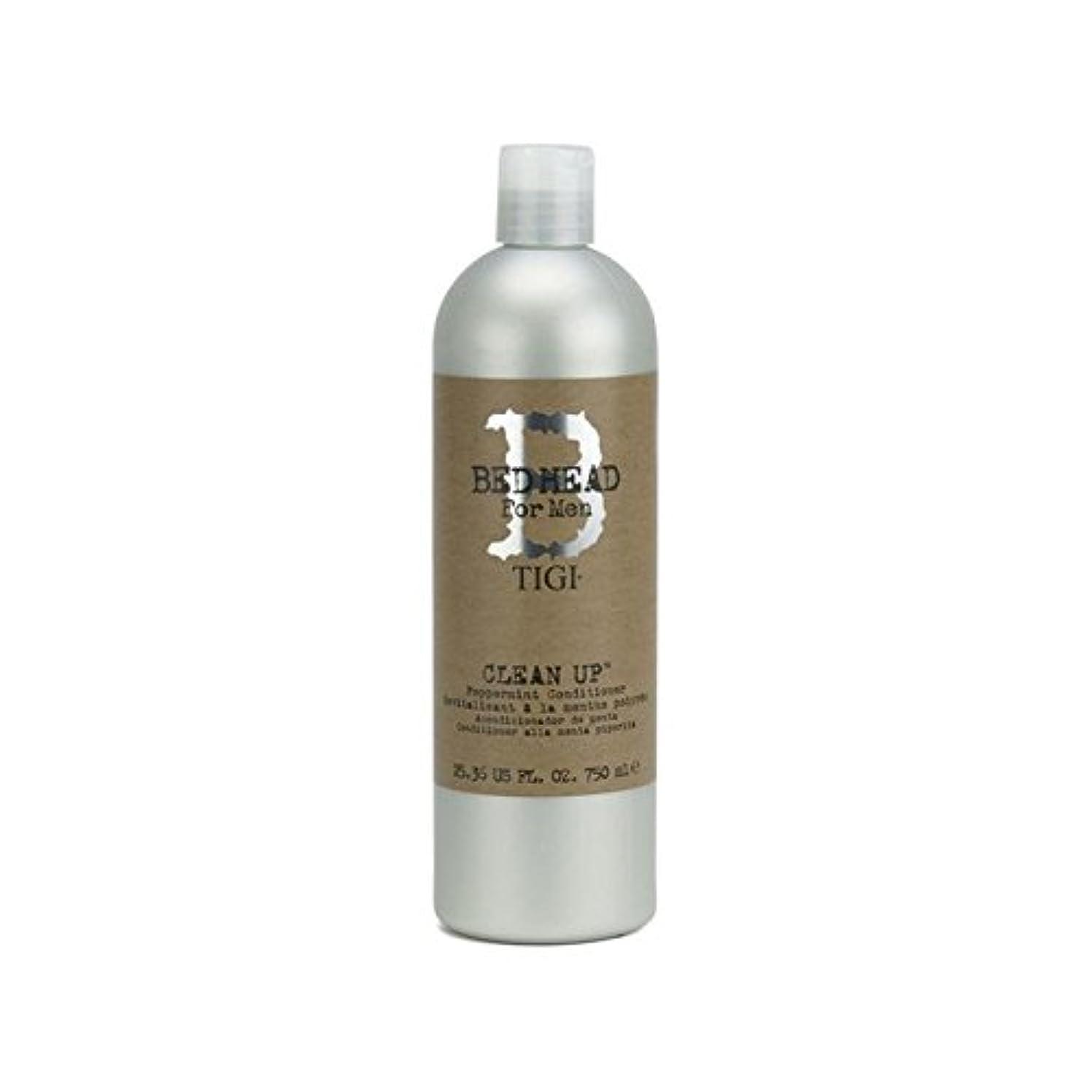 結紮のヒープ冷凍庫Tigi Bed Head For Men Clean Up Peppermint Conditioner (750ml) (Pack of 6) - ペパーミントコンディショナーをクリーンアップする男性のためのティジーベッドヘッド...