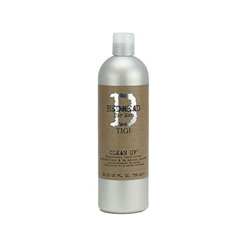 掘る暴力的なささやきTigi Bed Head For Men Clean Up Peppermint Conditioner (750ml) - ペパーミントコンディショナーをクリーンアップする男性のためのティジーベッドヘッド(750ミリリットル...