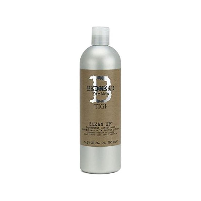 パラシュート合金増幅ペパーミントコンディショナーをクリーンアップする男性のためのティジーベッドヘッド(750ミリリットル) x4 - Tigi Bed Head For Men Clean Up Peppermint Conditioner...