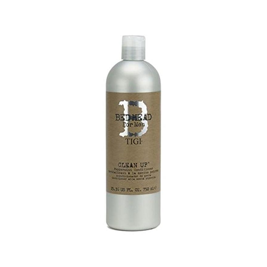 苦しめるエキス絶妙ペパーミントコンディショナーをクリーンアップする男性のためのティジーベッドヘッド(750ミリリットル) x4 - Tigi Bed Head For Men Clean Up Peppermint Conditioner...