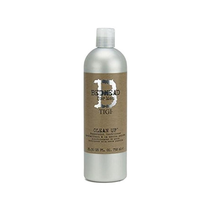 個人的に眠り合理的Tigi Bed Head For Men Clean Up Peppermint Conditioner (750ml) (Pack of 6) - ペパーミントコンディショナーをクリーンアップする男性のためのティジーベッドヘッド...