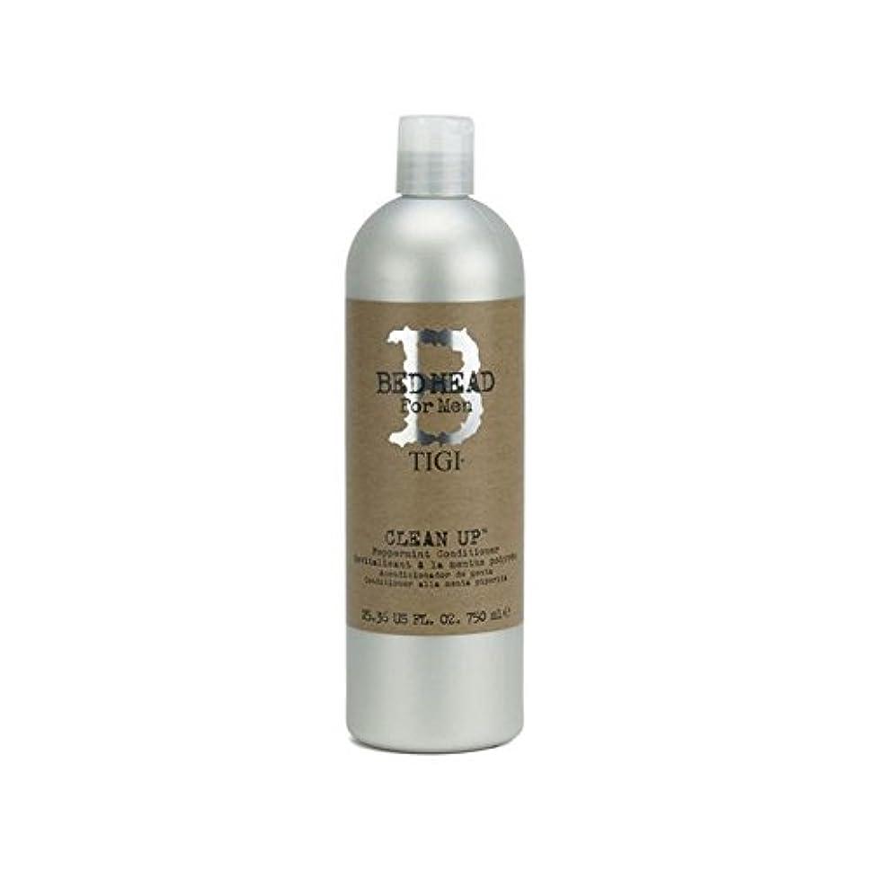 礼拝ヒューマニスティックコンサートペパーミントコンディショナーをクリーンアップする男性のためのティジーベッドヘッド(750ミリリットル) x4 - Tigi Bed Head For Men Clean Up Peppermint Conditioner...