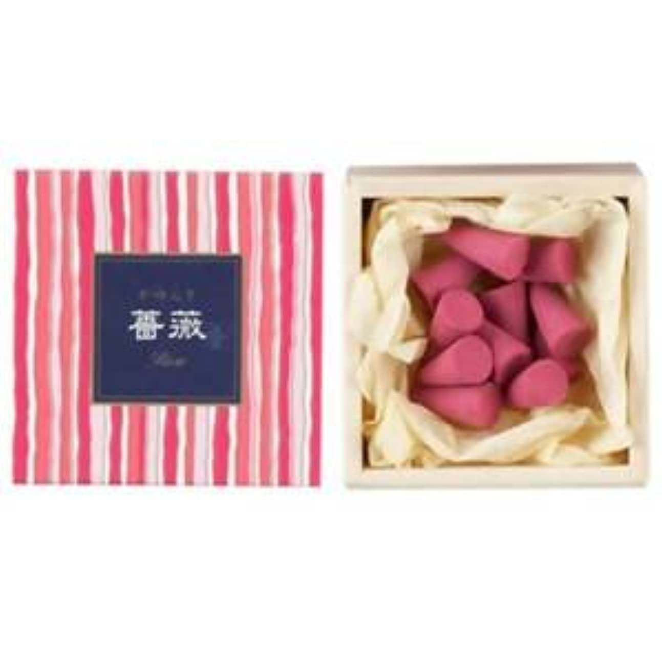 フィッティング誘うぶら下がる【日本香堂】 かゆらぎ お香 コーン型 白桃