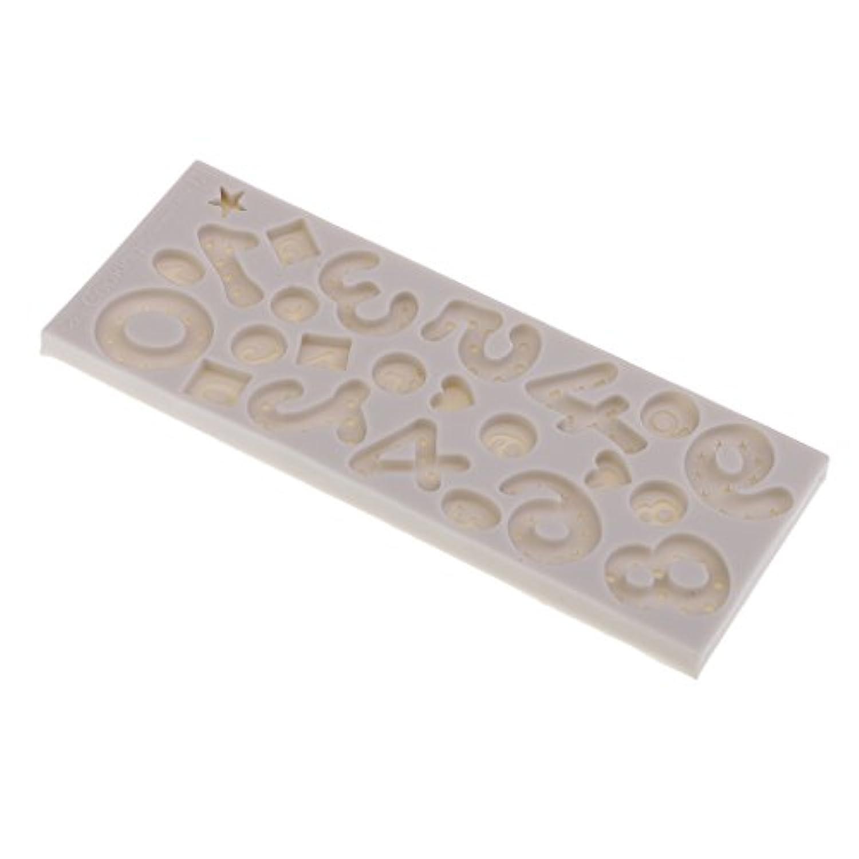 Perfk DIYケーキ金型 液体シリコーン金型 番号金型 石鹸作り チョコレート作り 15.5×6×0.8cm 子供のため