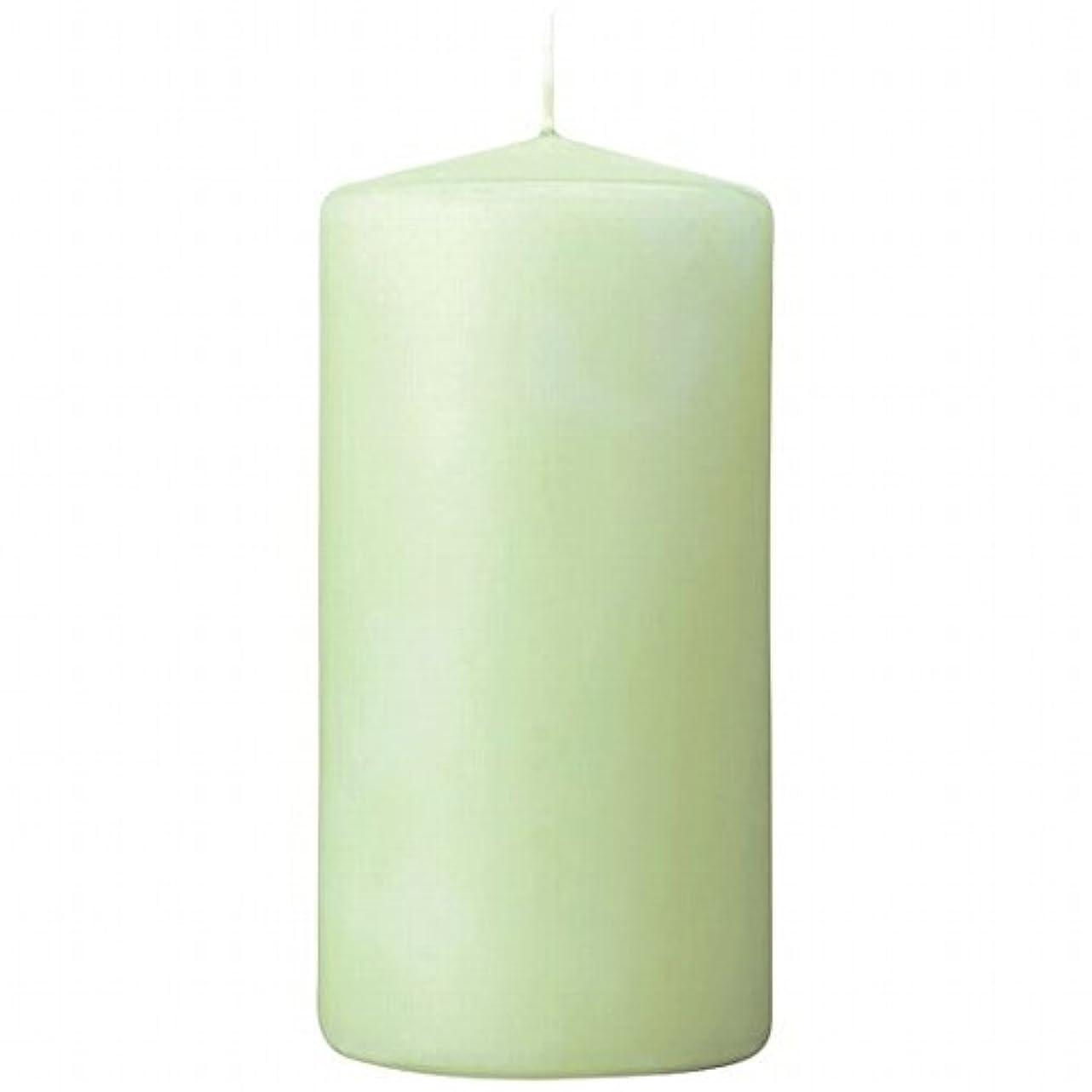 ブーム縫い目三番カメヤマキャンドル(kameyama candle) 3×6ベルトップピラーキャンドル 「 ホワイトグリーン 」