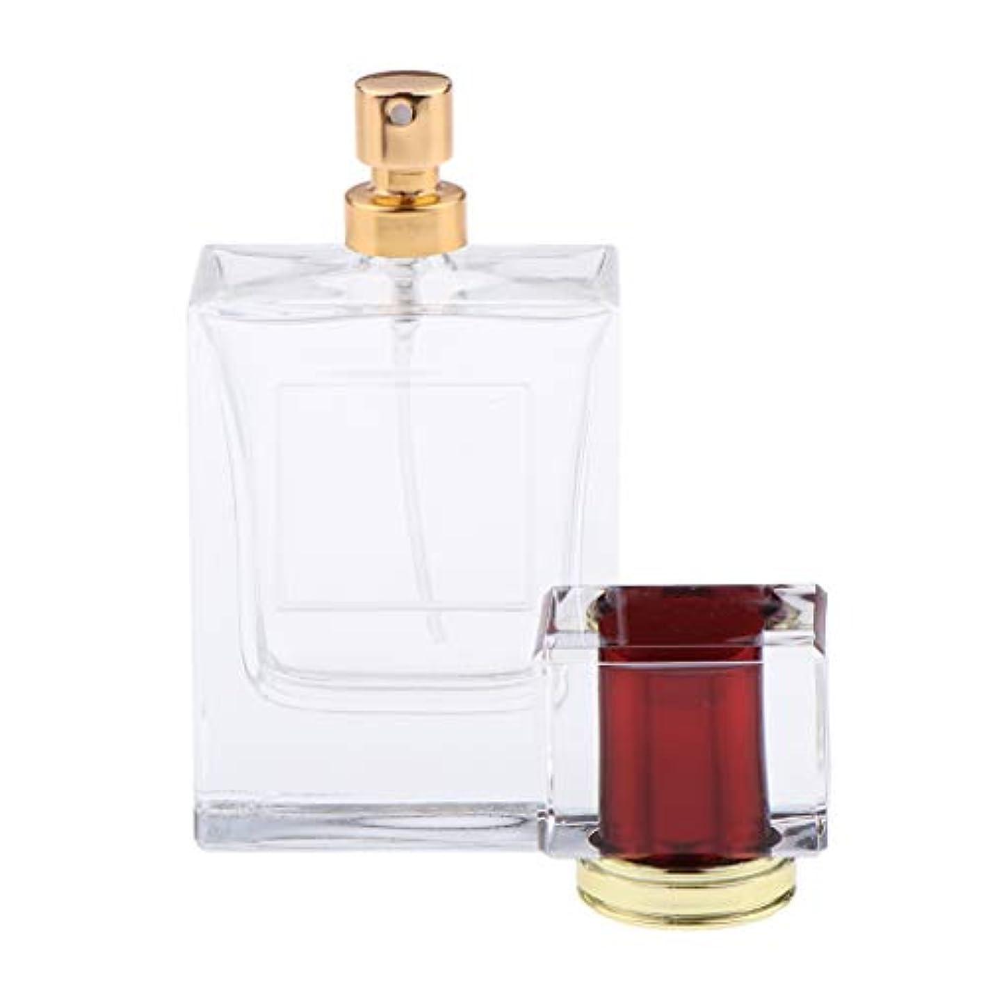 疑問を超えて無礼に仕事に行く香水瓶 化粧ボトル 透明ガラス ポンプスプレーボトル 手作りコスメ 4色選べ - 紫赤い