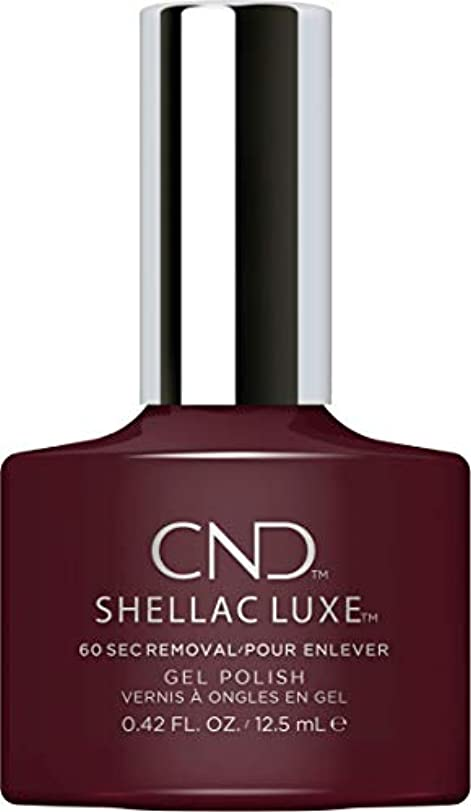 説明気まぐれなポゴスティックジャンプCND Shellac Luxe - Black Cherry - 12.5 ml / 0.42 oz