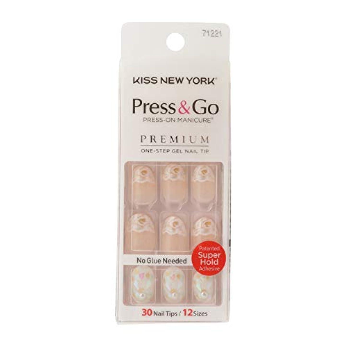力強い占める姉妹キスニューヨーク (KISS NEW YORK) KISS NEWYORK ネイルチップPress&Go BHJ31J 19g