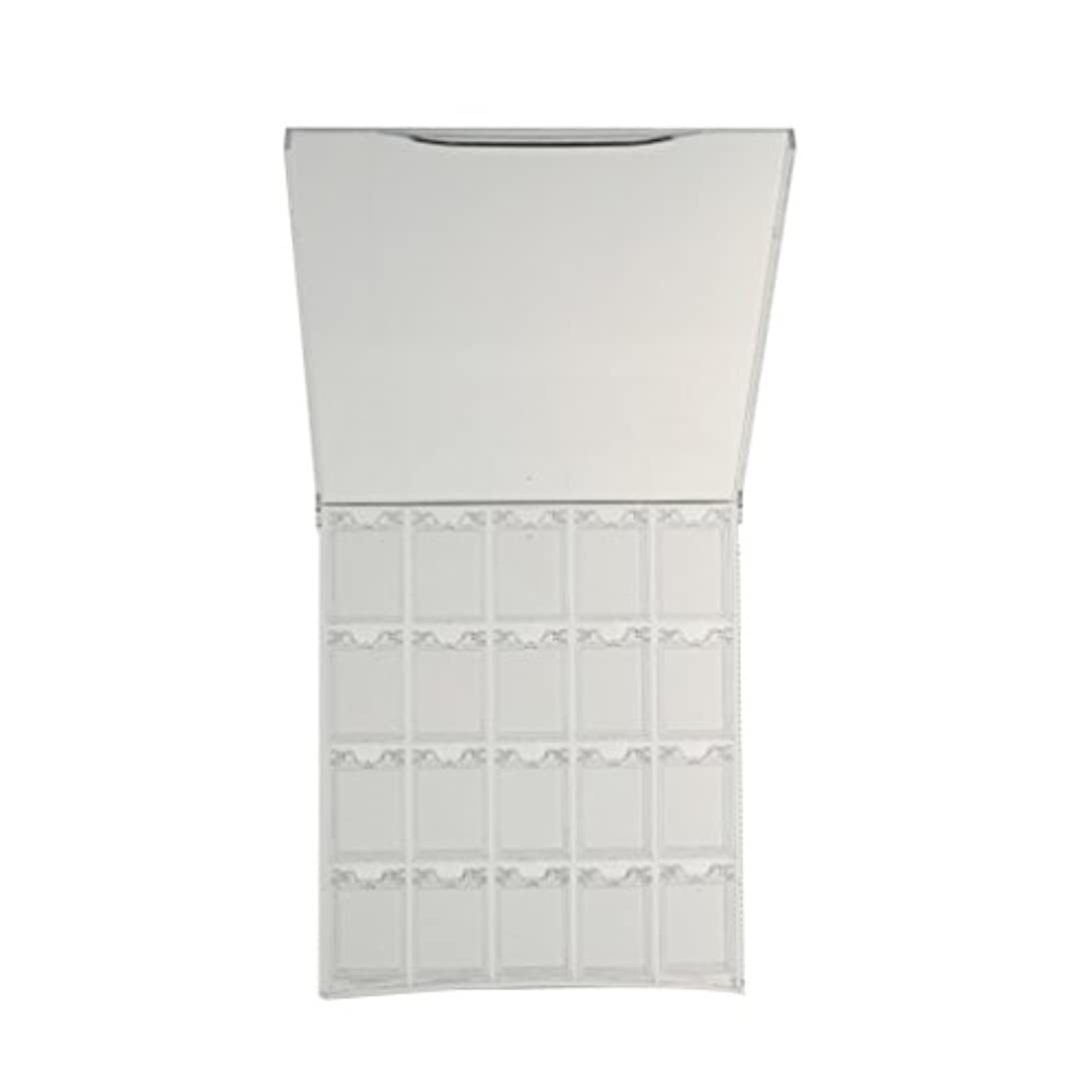CUTICATE 空のプラスチック製のネイルアートケースグリッターパウダーディスプレイボックス容器ホルダーケース