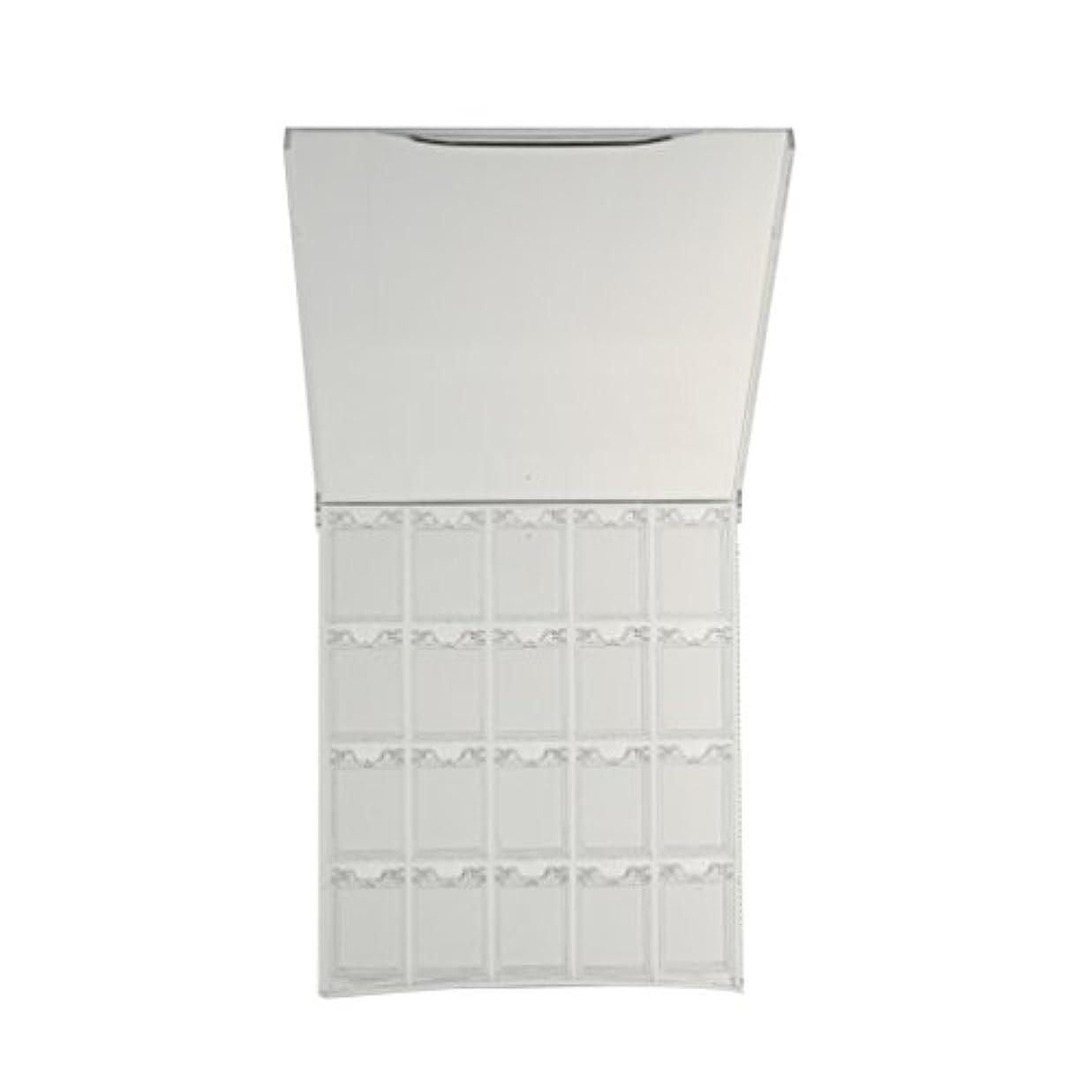毎週欲望タイトルCUTICATE 空のプラスチック製のネイルアートケースグリッターパウダーディスプレイボックス容器ホルダーケース