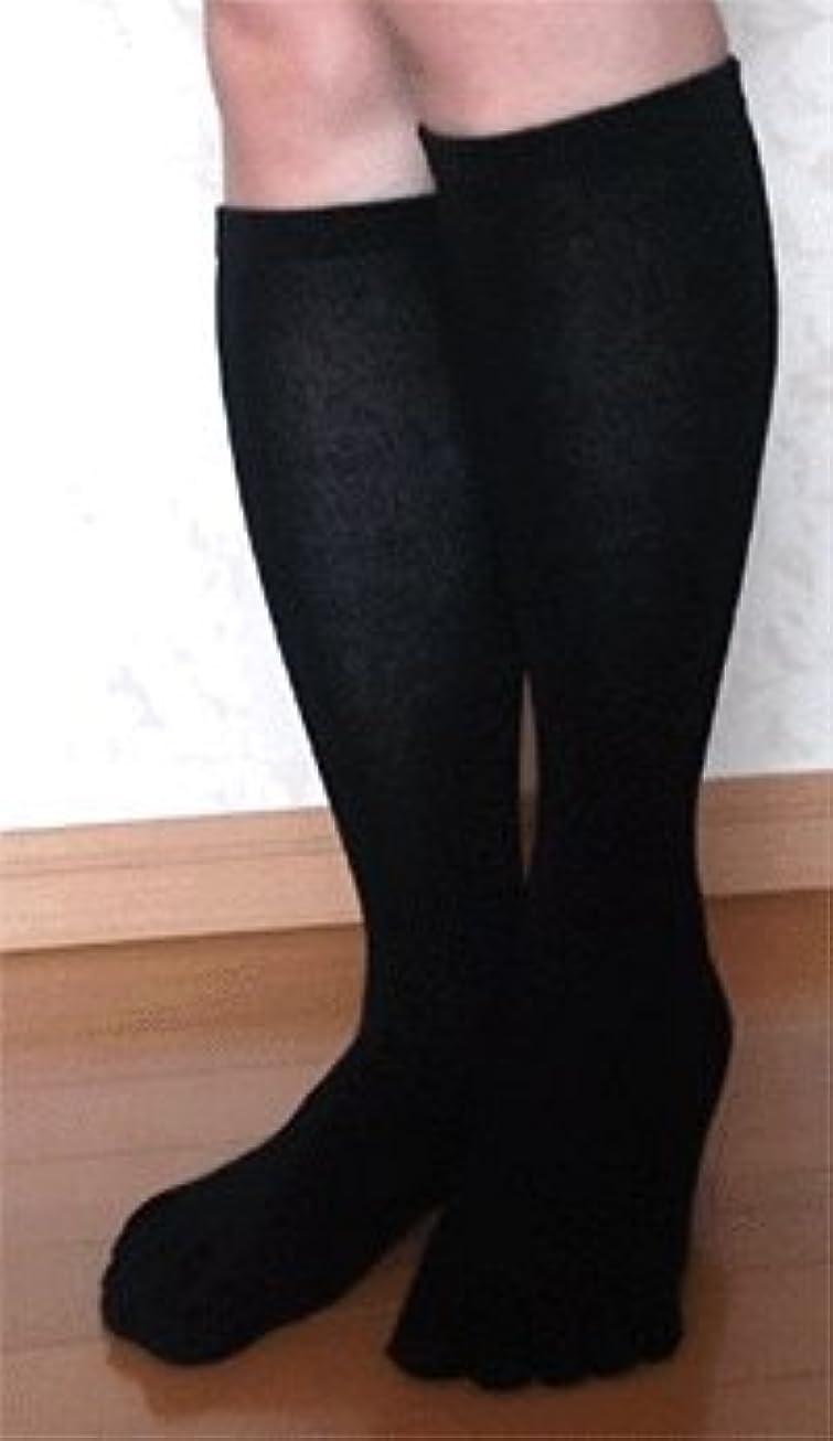バスルーム不毛分泌する日本製 高品質こだわりシルク 5本指ハイソックス 22~24cm お買得2足組 (すべりとめなし)
