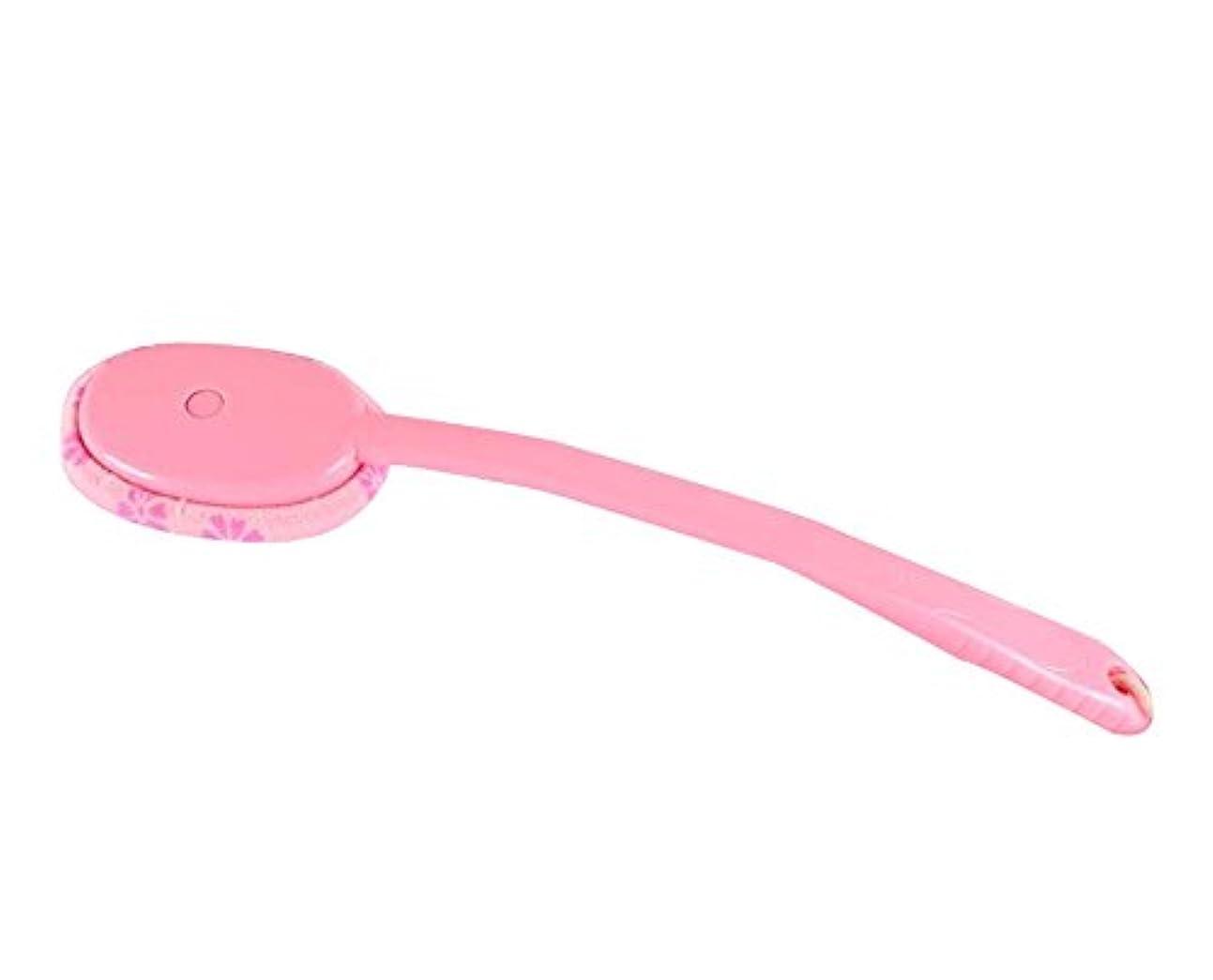 分布爆発するタバコラビングバスタオルバスブラシクリエイティブロングハンドルラビングブラシ、ピンク