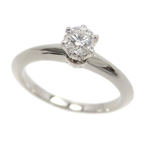 ティファニー ソリテール リング レディース ダイヤモンド Pt950 6.5号 0.27ct 3.3g Tiffany&Co. 指輪 プラチナ 立爪 鑑定書付き