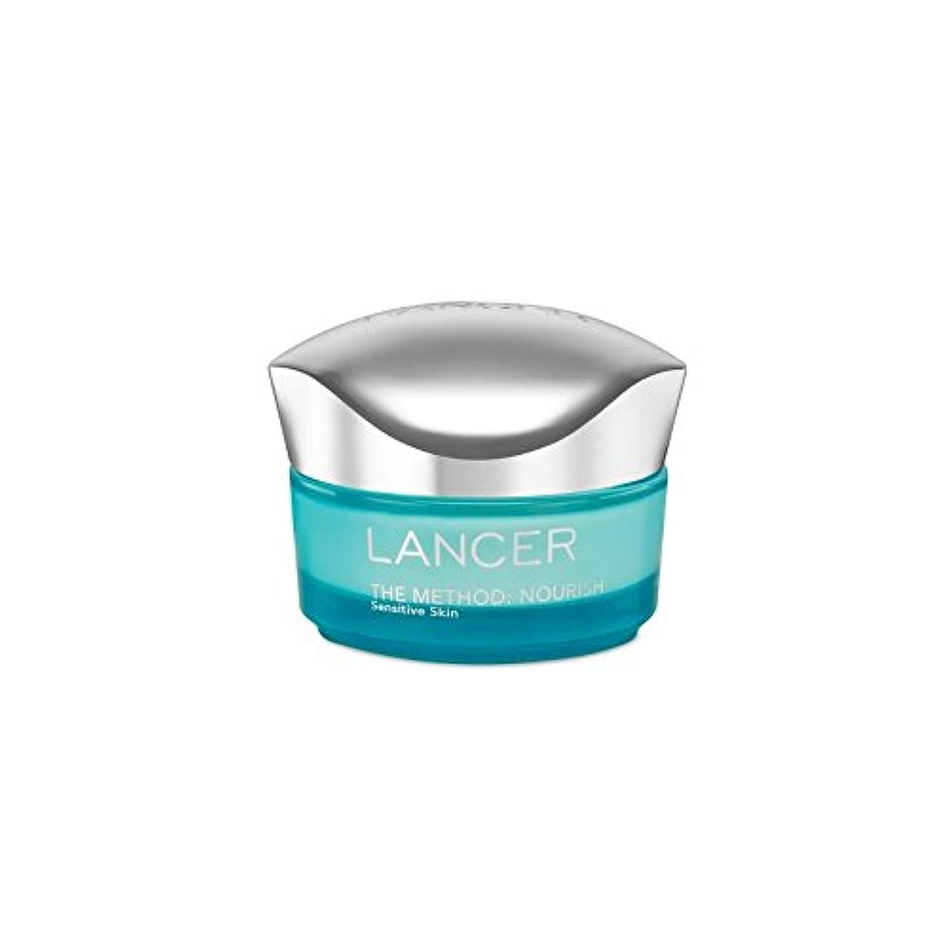 敏感なチラチラするデザートLancer Skincare The Method: Nourish Moisturiser Sensitive Skin (50ml) (Pack of 6) - ランサーは、この方法をスキンケア:保湿敏感肌(50)...