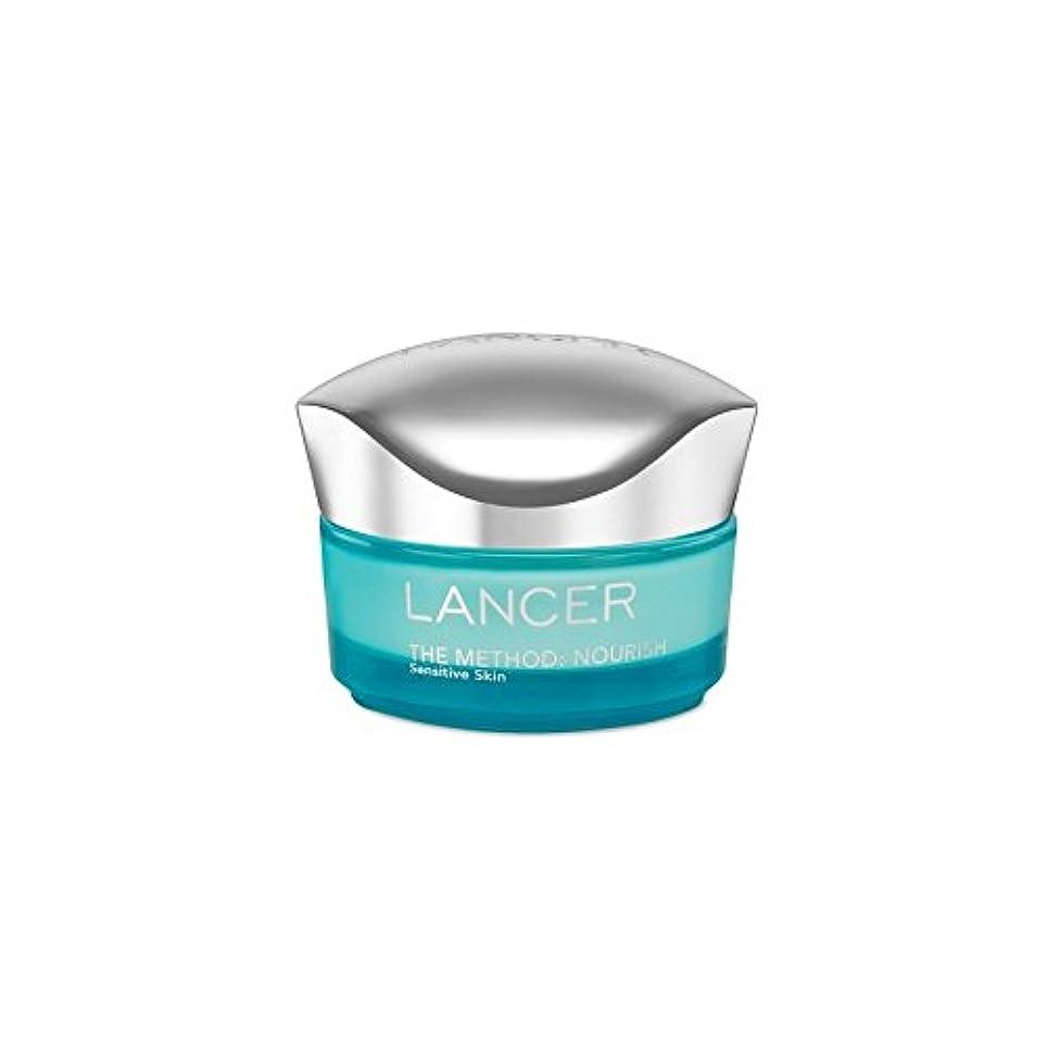 勤勉な倒産褐色Lancer Skincare The Method: Nourish Moisturiser Sensitive Skin (50ml) (Pack of 6) - ランサーは、この方法をスキンケア:保湿敏感肌(50)...