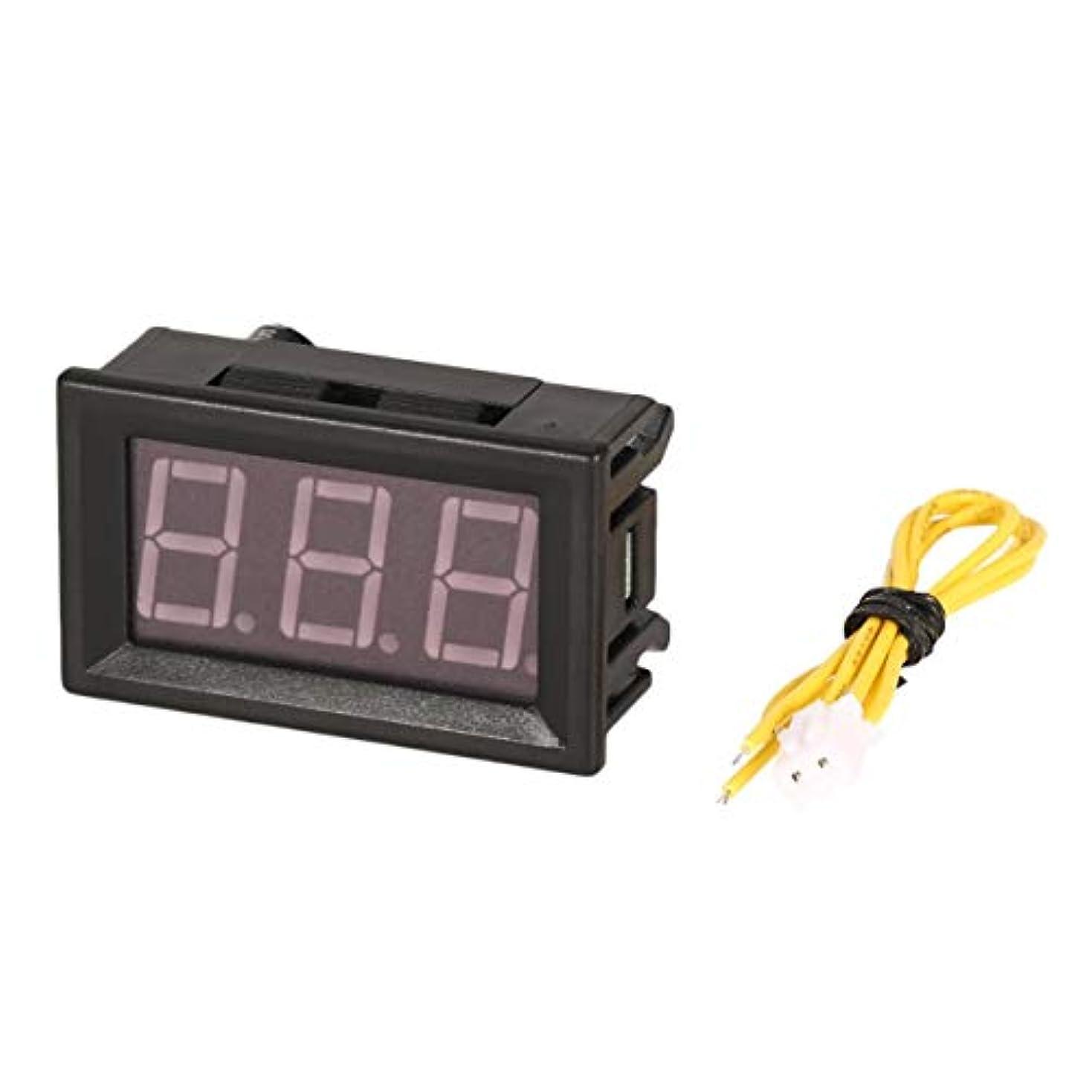 飼いならす仮定伝染性2PCS 70-380Vは、パネル電圧計電圧計ボルトテスターオートカーLEDディスプレイ