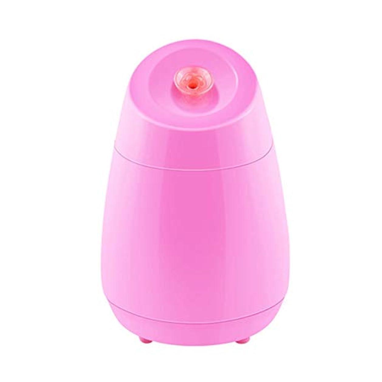連結するラリードームZXF ナノスプレー水道メーター美容機器ABS材料ホットスプレーフルーツと野菜の蒸し顔ホームフェイシャルフェイシャルフェイスブルーセクションピンク 滑らかである (色 : Pink)