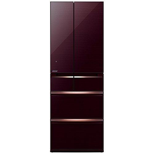 三菱 517L 6ドア冷蔵庫(クリスタルブラウン)MITSUBISHI 置けるスマート大容量 MR-WX52A-BR