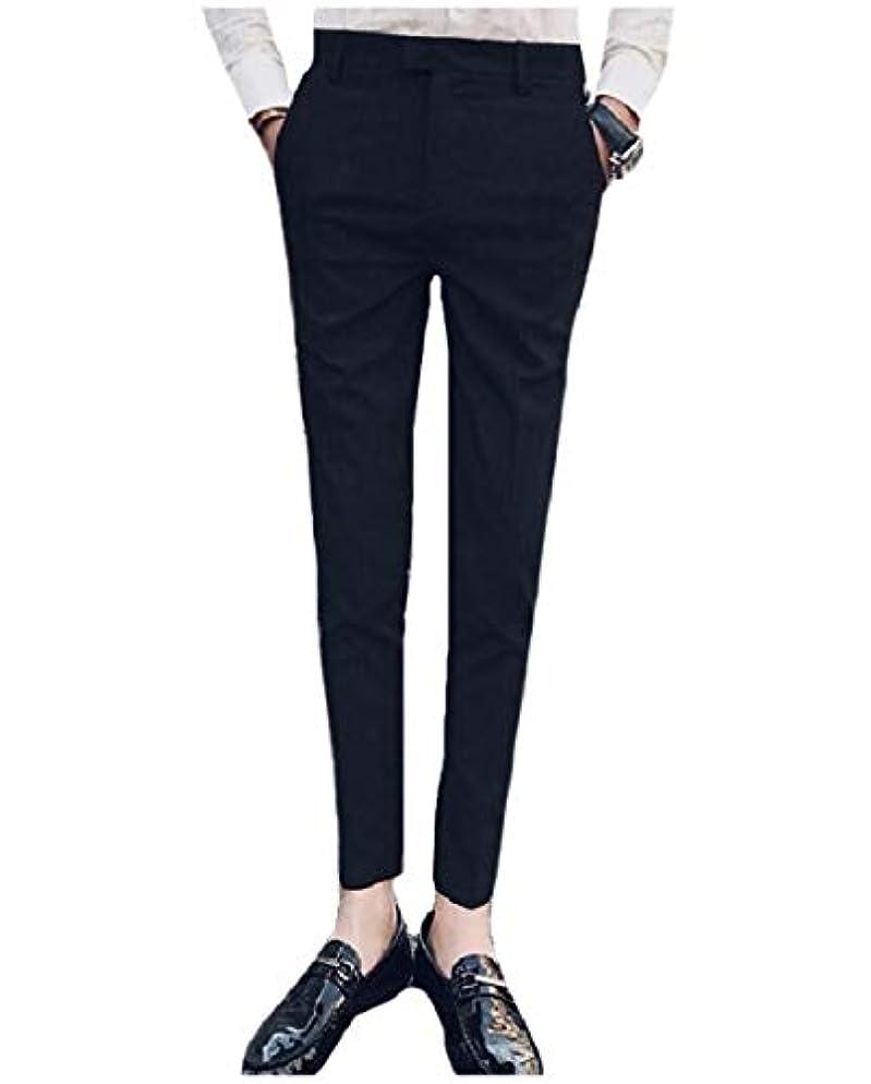 地理構想する記念碑的なGodeyesW Men's Trim-Fit Flat-Front Hidden Expandable-Waist Dress Pants