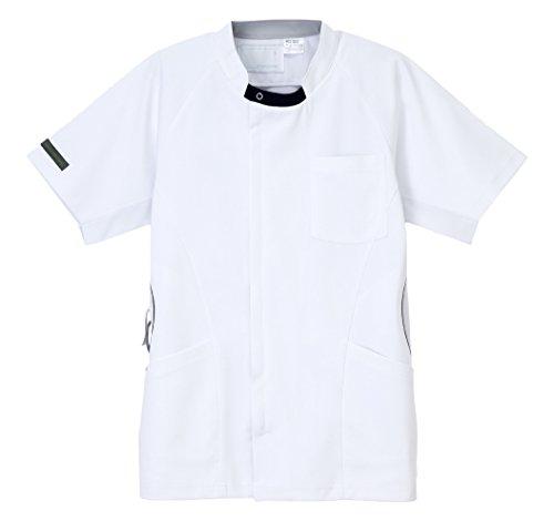 ナガイレーベン PRO-FUNCTION 男子上衣 医療白衣 半袖 Tネイビー M HOS-5357