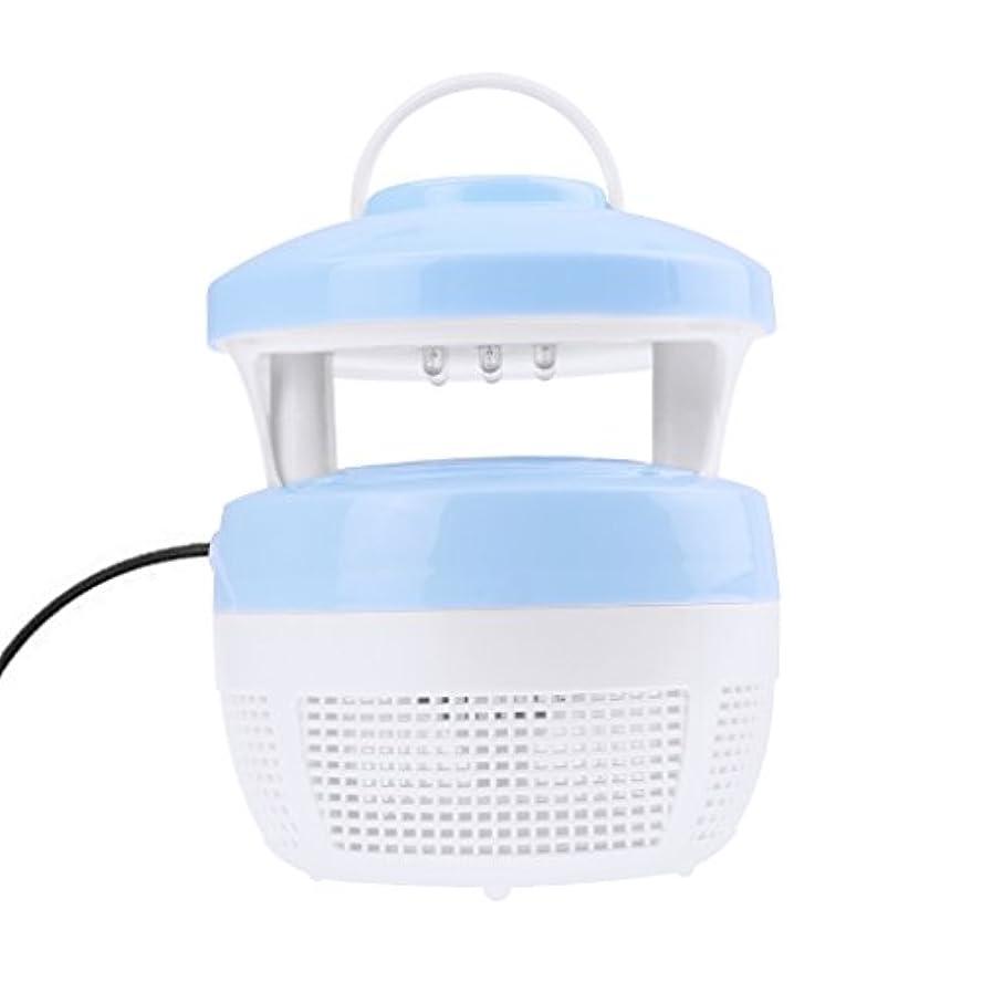 蚊取り器 虫よけ 虫除け 吸込み式 LEDランプ付き USB 誘虫灯 蚊 コバエ 駆除 蚊取り 殺虫 人畜無害 捕虫器 省エネ 寝室 リビング オフィス ブルー
