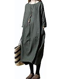 a268629d6e99a イノ)Yino ロングワンピース レディース ワンピース チュニック マキシ丈 トップス 大きいサイズ ゆったり 長袖