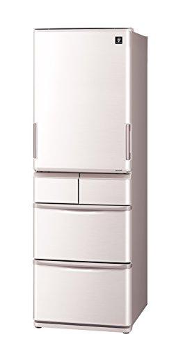 シャープ どっちもドア冷蔵庫 プラズマクラスター搭載 412Lタイプ ベージュ系 SJ-PW41C-C
