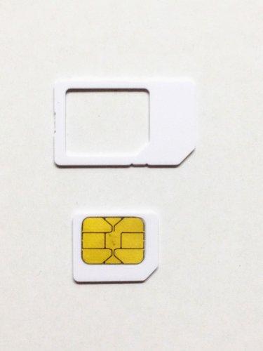 iOSに対応 au専用 iPhoneアクティベートカード MicroSIMサイズ/通常サイズに変換可能